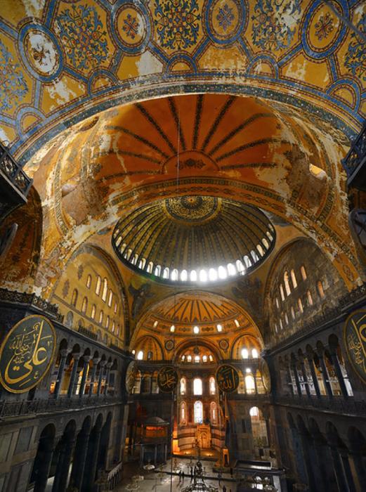 Hagia Sophia, View of Ceilings in Naos Area